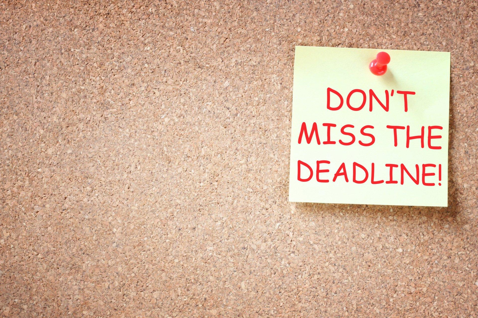 2019 compliance deadlines