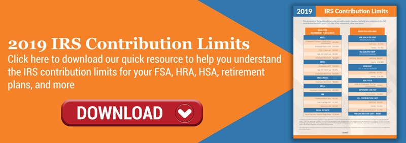 Click to Download our 2019 IRS Contribution Limits Infosheet!